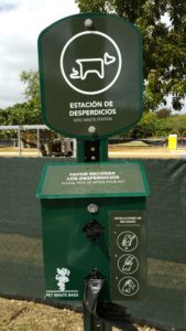 Always bring bags to clean up after your dog! But, if you forget, they have these stations scattered around the park!